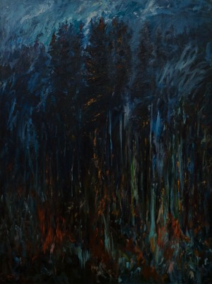 "R. Tovt ""Mysterious Forest"", 2016, oil on canvas, 200x150"