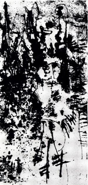 Galaxia 4, 1964, litografia, 40X20,8