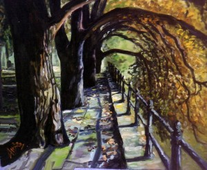 'Depesh Park', oil on canvas, 2001