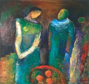 Яблука, 2012, п.о., 90х90