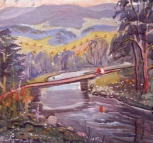 Пейзаж з мостиком, 2002, п.о., 70х80