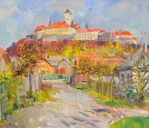 "F. Erfan ""Mukachevo Castle"", 2014, oil on canvas"
