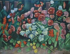 Flowers, oil on canvas, the second half of the 20th century, 95,5х75