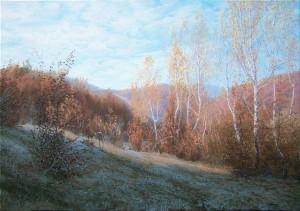 Hoarfrost, oil on canvas