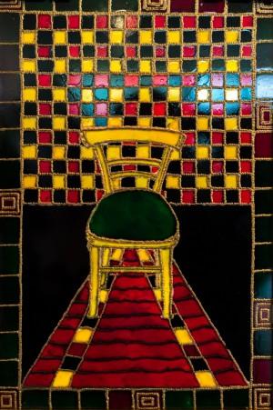 Своє місце, 2008, скло, фарби по склу