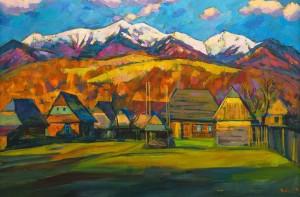 V. Vovchok 'Spring In Nehrovets Village'