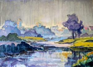 Silver morning. Volodymyr-Volynskyi, 2016, oil on canvas, 50х70