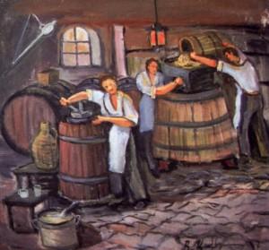 Переробка винограду, 1997, п.о., 60х60