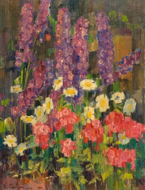 Flowers, 1977, oil on canvas, 100x75