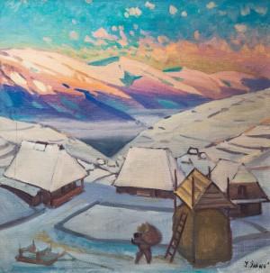 Зимовий ранок, 1995, п.о., 100х100