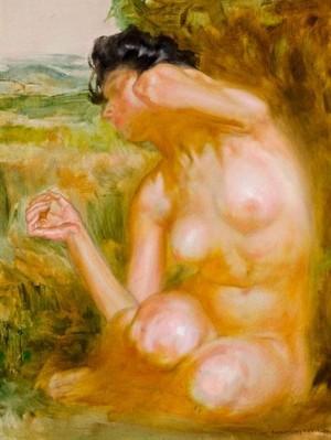 Оголена жінка, дерево,о., 46х37,5
