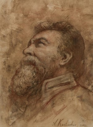 A. Kartashov Man, who looks in the sky, 40x30, p. sepia 2013