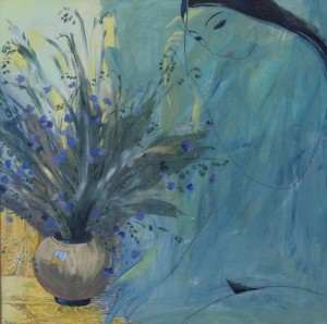 Flax, 2007, acrylic on canvas, 70x70