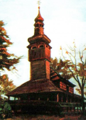 Церква архангела Михаїла (1733р.) с.Шелестово, 1988, 70х50
