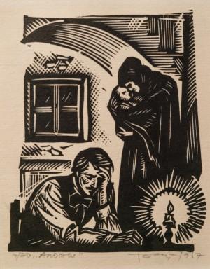 Apostle, 1967, linocut printing technique