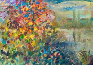 'Flash Of Autumn', 2013, oil on canvas, 60x80