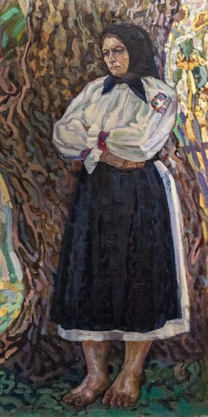 'Always Waiting (Mother)', 1961, oil on canvas, 112x57