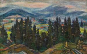 Гірський краєвид, 1940-ві, п.о. 65,7х103