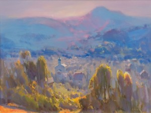 Fog of Kostryno Village, 2015, oil on canvas