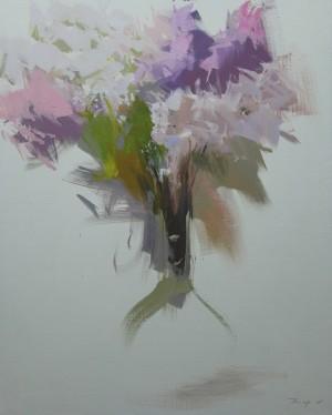 Morningoil on canvas85x70.