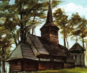 Церква архангела Михаїла (ХVІІІ ст.) с. Росош, 1987, 60х70