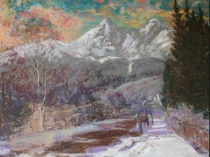 'Starý Smokovec Village', 1935, pastel on paper, 54,5х68,5.png