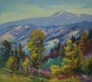 At the foot of Mount Pikui, 2009, oil on canvas, 81х90