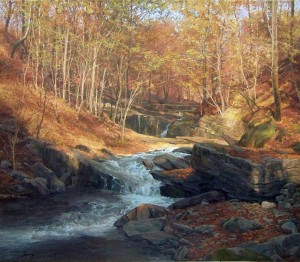 Lumshory Village, oil on canvas, 75,7x86,4