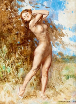 Nude Woman In The Nature, oil on canvas, 33x23,5