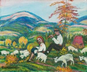 Вівчарики, 1980-ті, п.о. 76х90,5