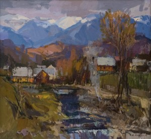 A. Kovach  Early Spring in Nehrovets village, 2016