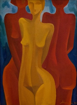 'Bathers', 1990, oil on canvas