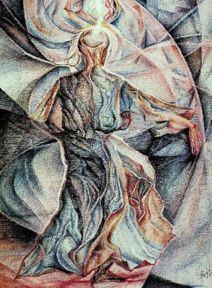 Monks Dance, 1991, pastel 2