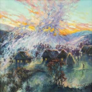 Fog on the Pass, 2012, oil on canvas, 70x70