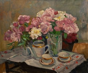 'Still Life With Peonies', 1976, 100x85