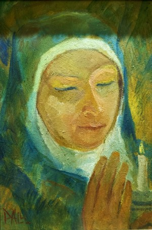 Lajos Páll Madonna with a Candle oil on canvas 33х22