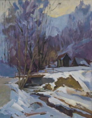 V. Dub. A Stream, 2011, oil on canvas, 70x55