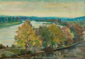 Вид на річку Уж, к.о. 50х70