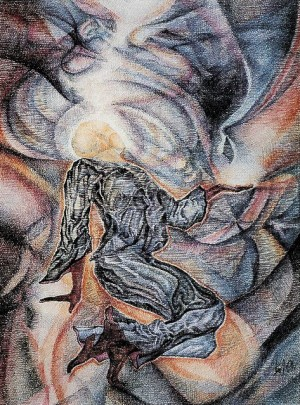 Monks Dance, 1991, pastel 3