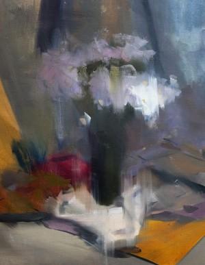 Daisies2017oil on canvas50x65.