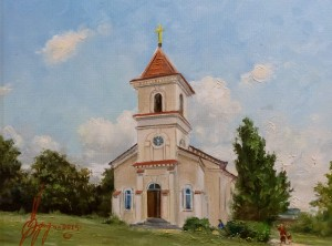 H. Ruff. Lutheran Church of St. Peter and Paul, 2015,  canvas, oil, 40x50