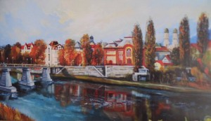 Uzhhorod, 2016, oil on masonite