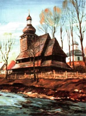 Церква в с. Буковець (Міжгірський район), 1991, 60х50