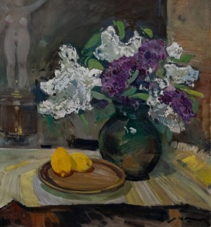 'Still Life With Lilac And Lemons', 1974, 80x80