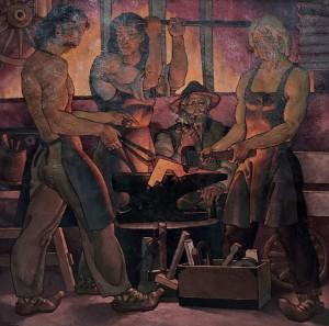 'У кузні діда', 2001, п.о., 87х87