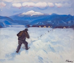 'Mount Menchul – In Memory Of Patrus-Karpatsky', 1999, tempera on canvas, 60x70