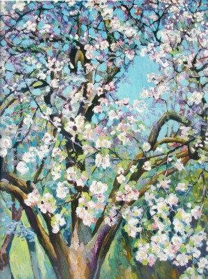 Blooming apple tree 1984. oil on canvas115х90