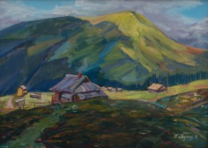 Polonyna near Petros, 2015, oil on canvas, 50x70