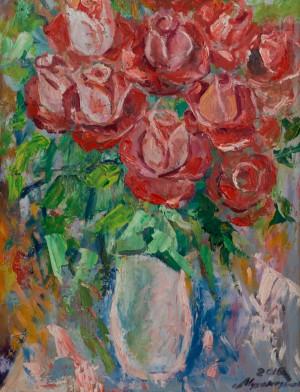 Троянди, 2015, к.о., 35х45