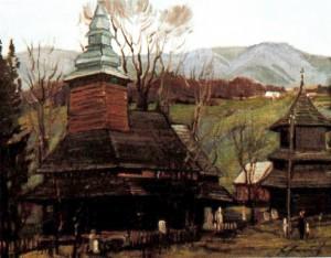 Церква в с. Вучкове (Міжгірський р-н), 1988, 50х60